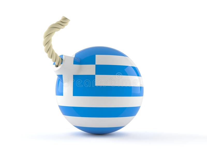 Bomb with greek flag vector illustration