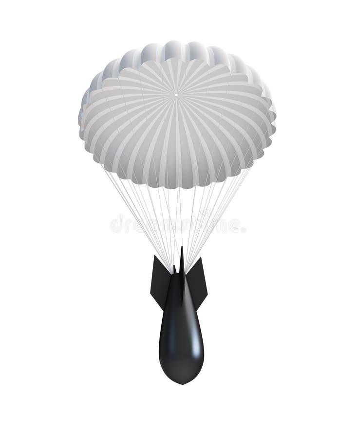 Download Bomb at Parachute stock illustration. Illustration of fabric - 15869369