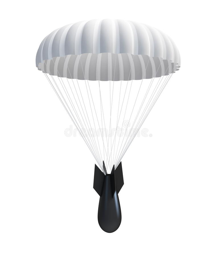 Download Bomb at Parachute stock illustration. Image of missile - 15869404