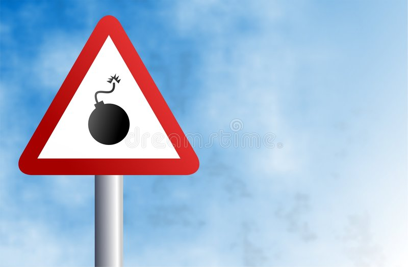 Bomb sign vector illustration