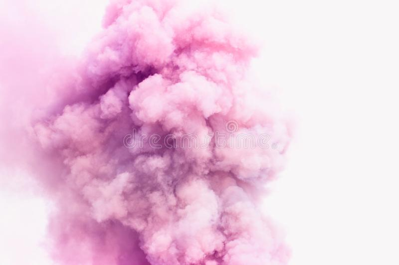 Pink smoke like clouds background. royalty free stock image
