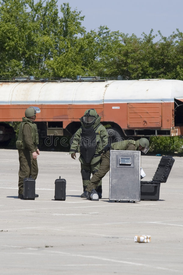Download Bomb squad action stock image. Image of army, bomb, terrorist - 2354351