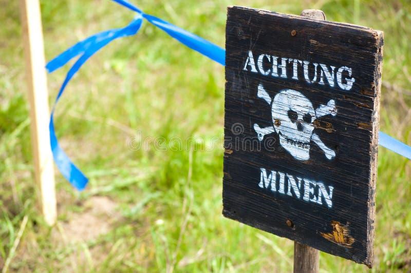 Download Bomb warning in german stock image. Image of black, roger - 24657417