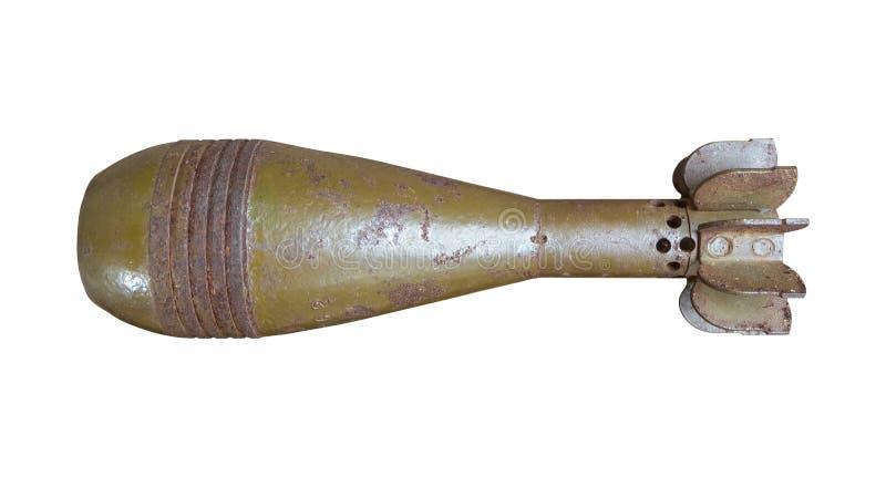Bomba aérea rústica velha isolada com trajeto de grampeamento imagens de stock
