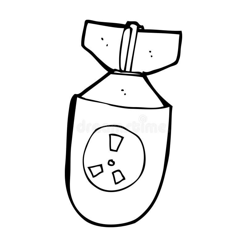 bomba atomica del fumetto illustrazione di stock