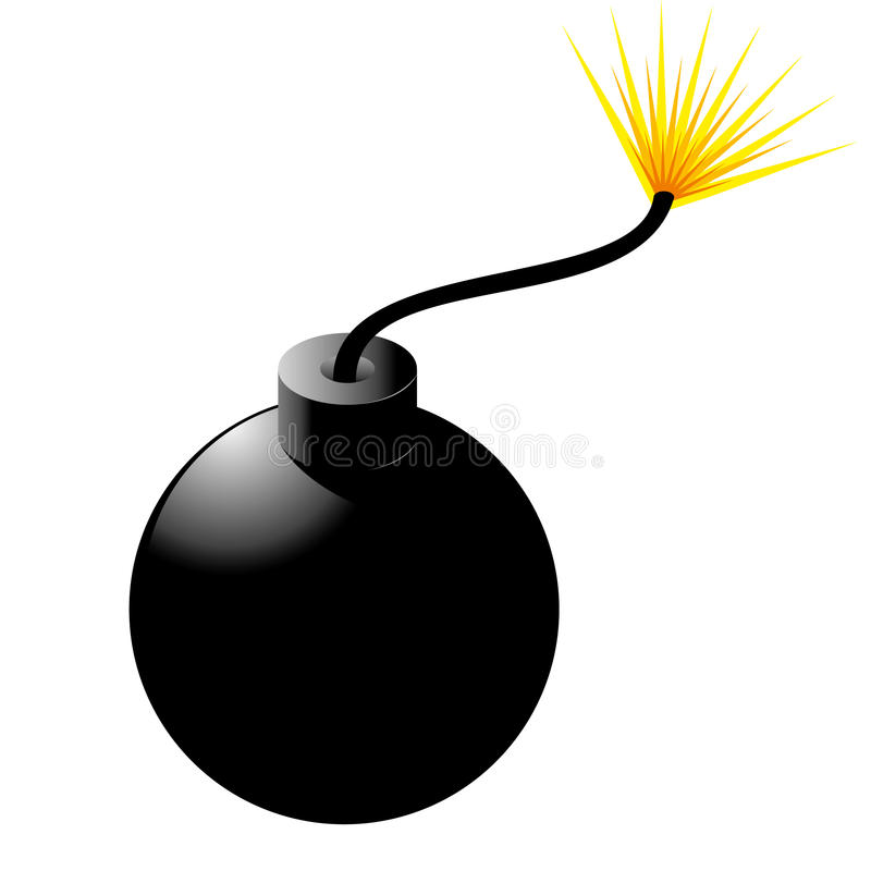 Bomba com fusível ilustração stock