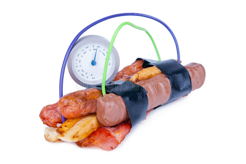 Bomba da caloria imagem de stock