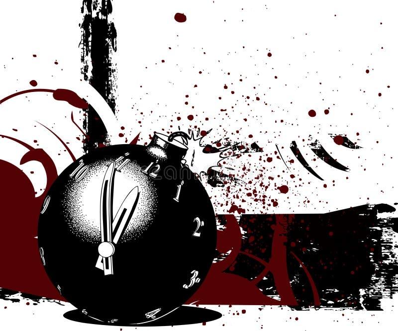Bomba da contagem regressiva ilustração stock
