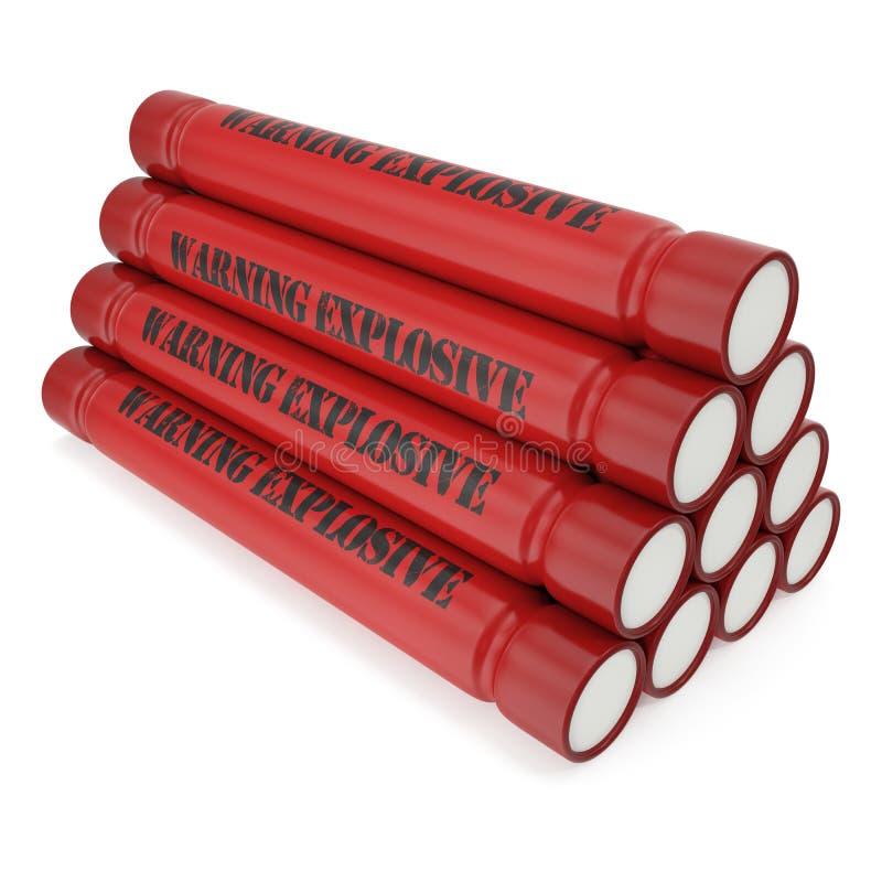 Download Bomba Da Dinamite Isolada Em Um Fundo Branco Ilustração Stock - Ilustração de preto, perigoso: 65579895