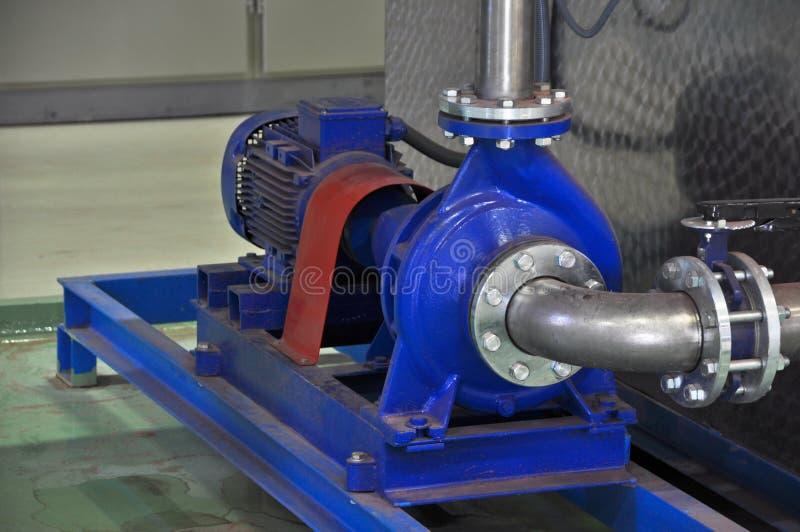 Bomba de água do motor elétrico fotos de stock