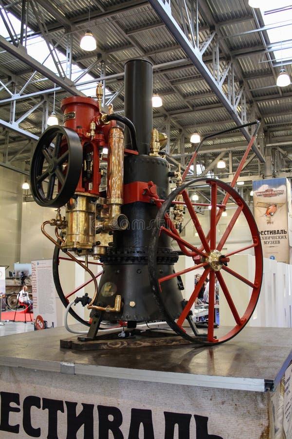 Bomba de água portátil de pouco peso Merryweather valente do vapor 1892 fotos de stock