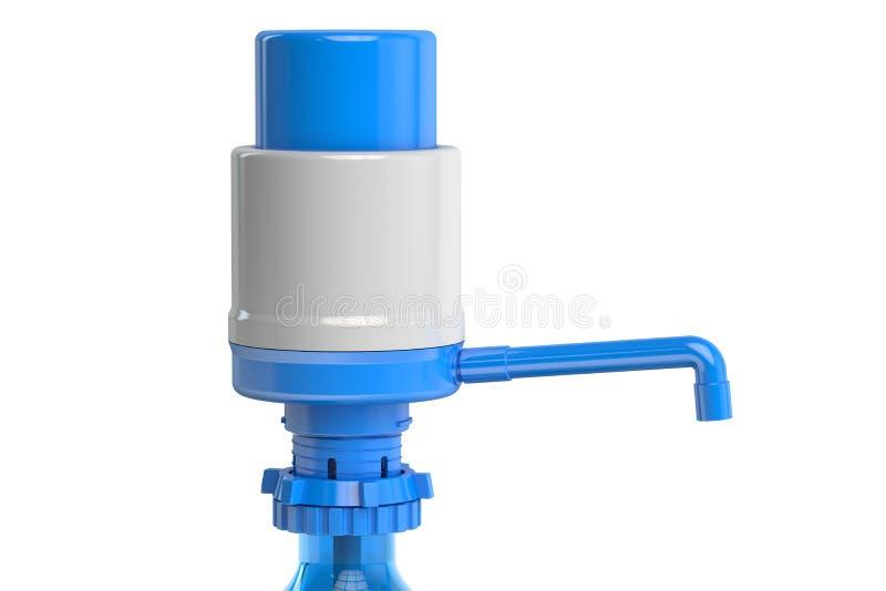 Bomba de água potável da garrafa do galão, bomba do distribuidor da água 3d arrancam ilustração stock