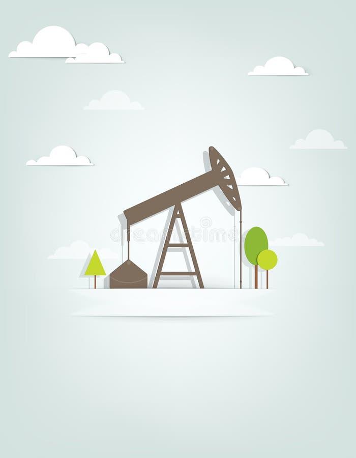 Bomba de óleo ilustração stock