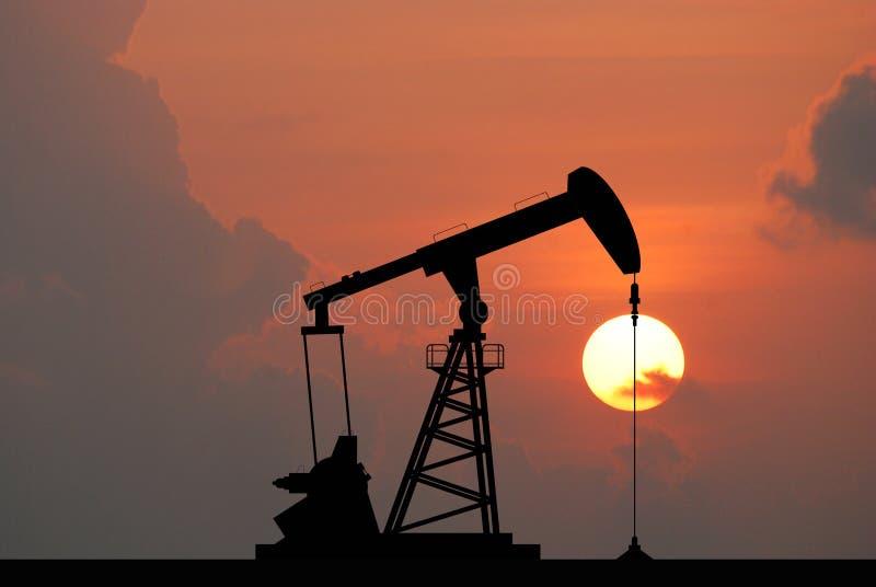 Bomba de óleo imagem de stock