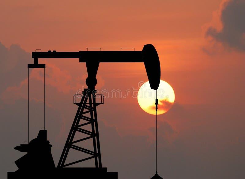 Bomba de óleo fotografia de stock