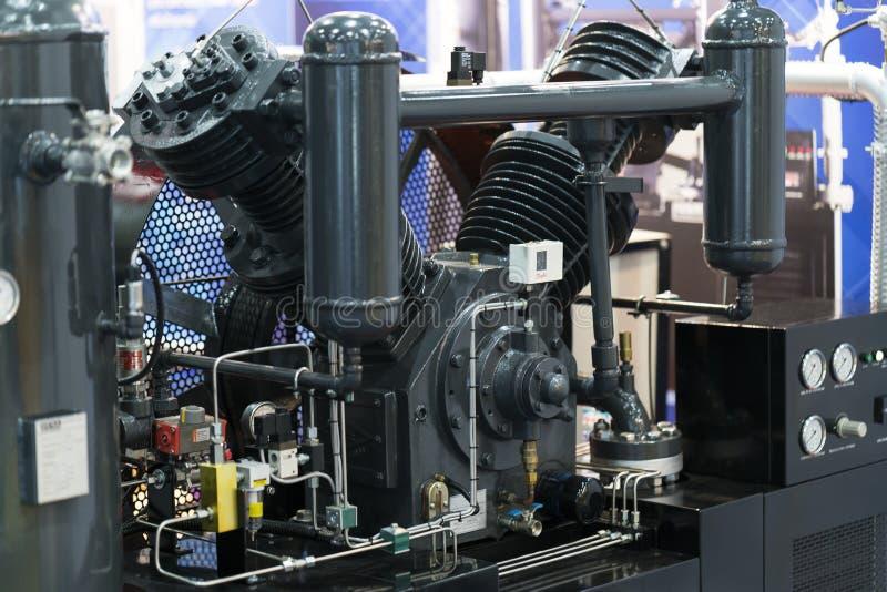 Bomba de aire de alta presión del cilindro imagen de archivo