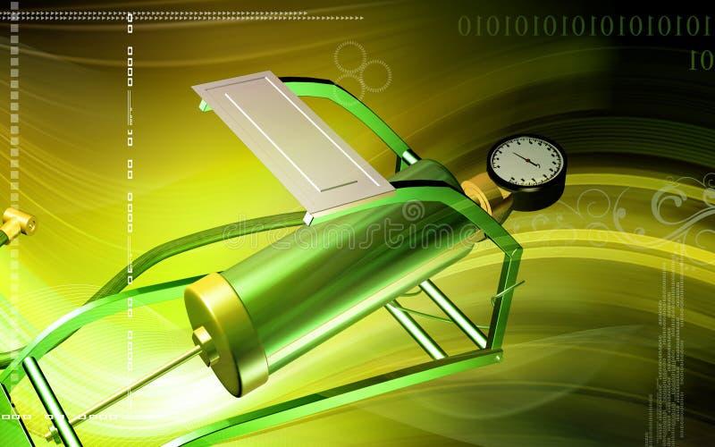 Download Bomba de aire con el pedal stock de ilustración. Ilustración de infle - 7282855