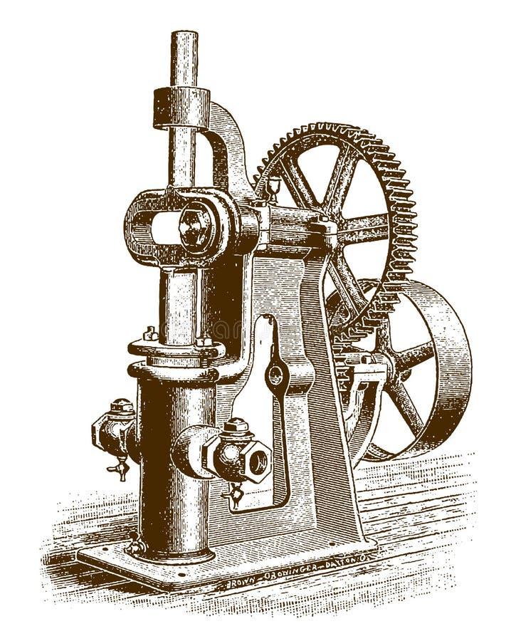 Bomba de alimentación de caldera adaptada histórica de poder ilustración del vector