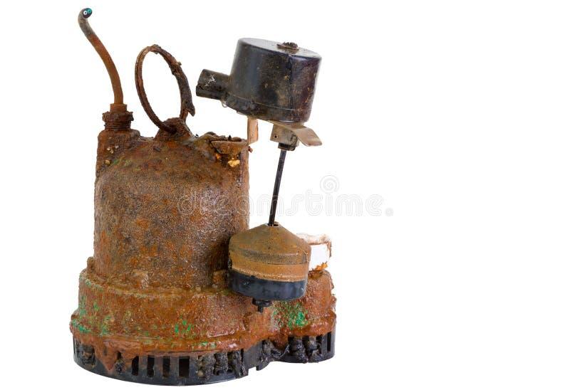Bomba de colector de aceite aherrumbrada sucia vieja imagenes de archivo
