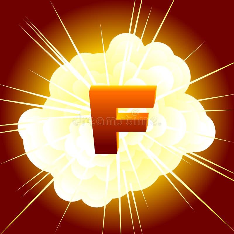 Bomba de F ilustração do vetor