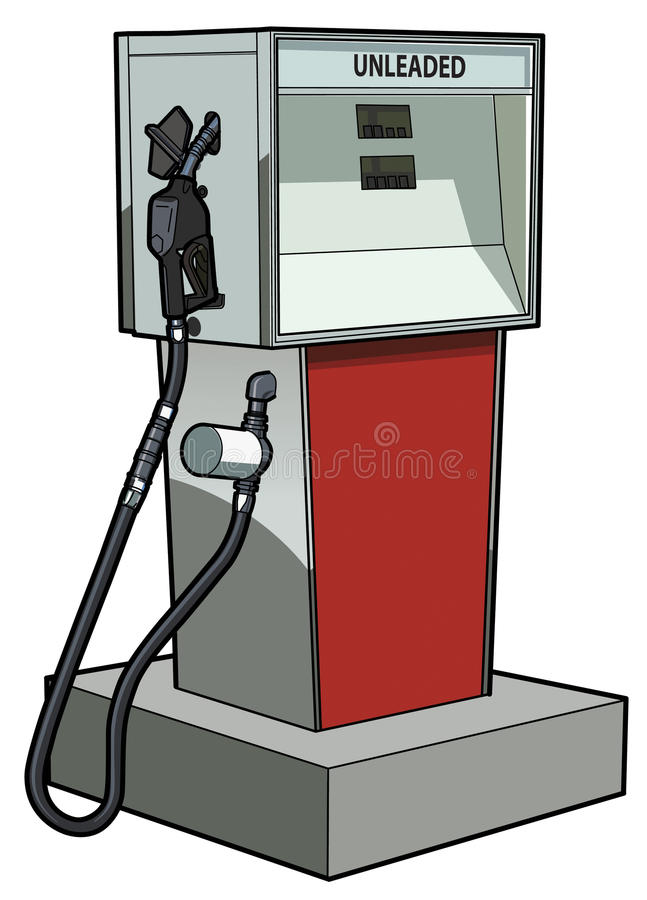 Bomba de gás ilustração stock