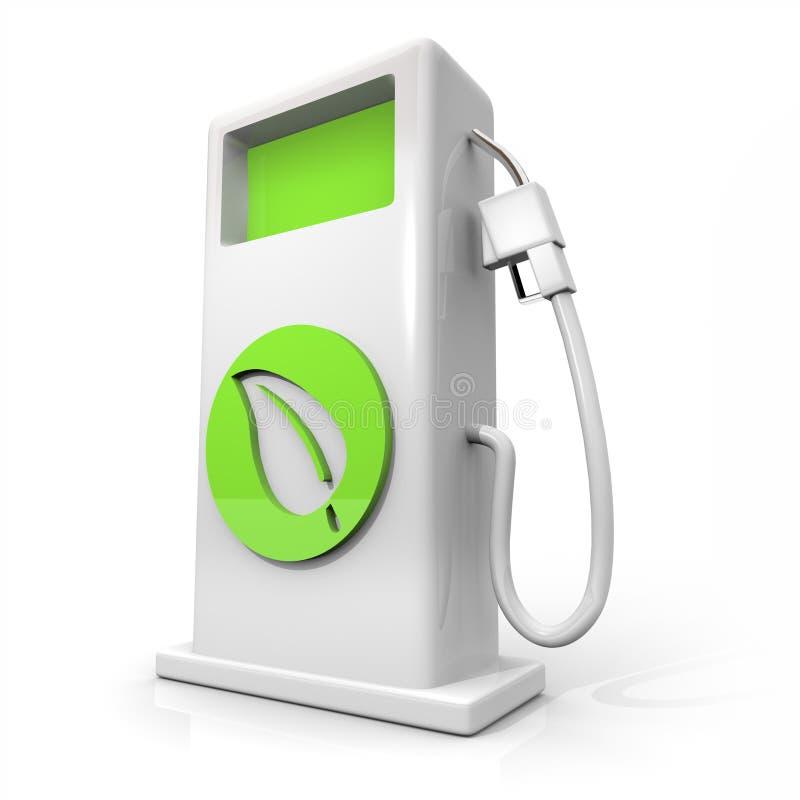 Bomba de gás do combustível alternativo - folha verde ilustração royalty free