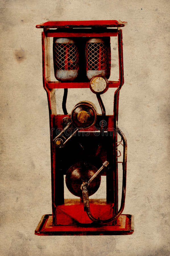 Bomba de gás do vintage imagem de stock royalty free