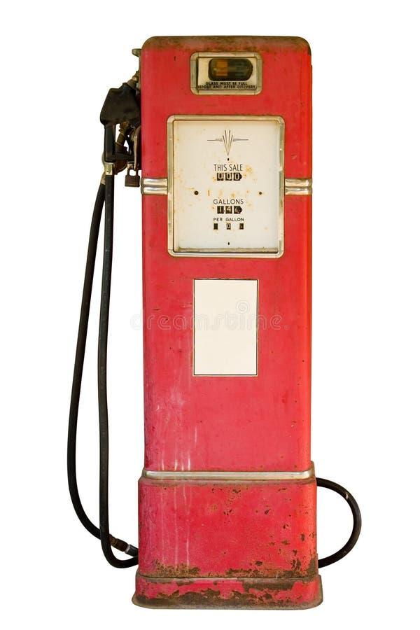 Bomba de gas de la vendimia en blanco fotografía de archivo libre de regalías