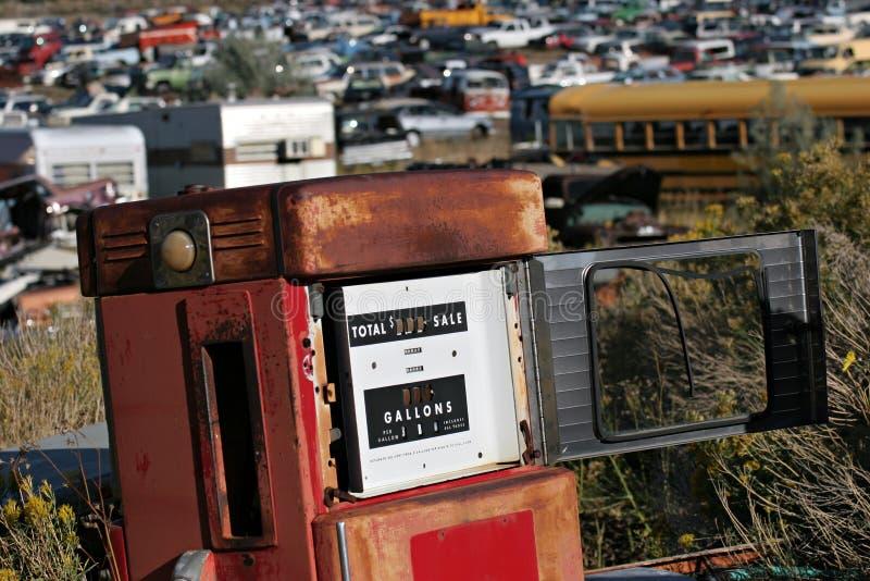 Bomba de gas vieja foto de archivo libre de regalías