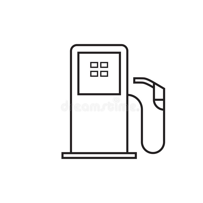 Bomba de gasolina ilustração do vetor