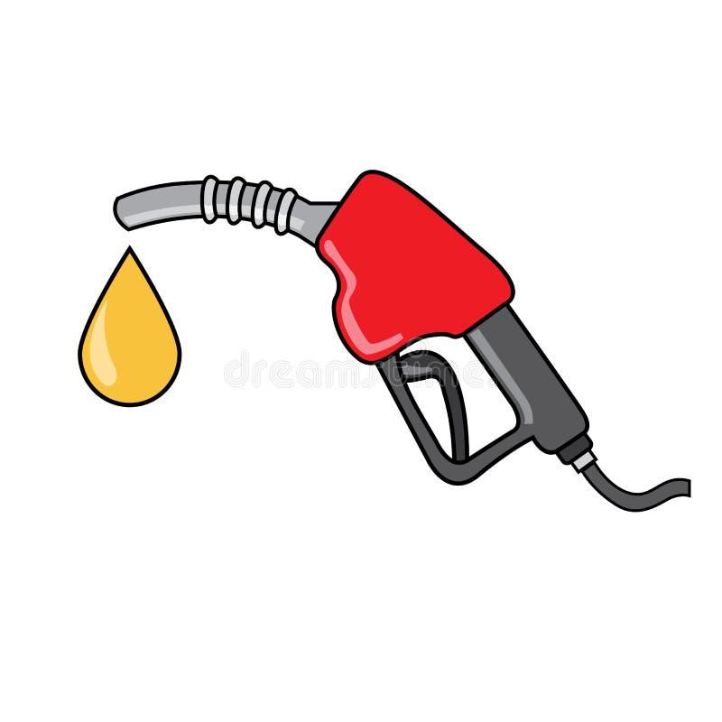 Bomba de gasolina vermelha ilustração stock