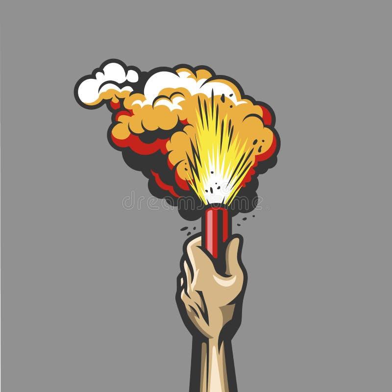 Bomba de humo disponible stock de ilustración