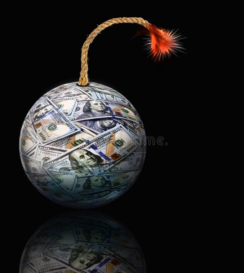 Bomba de la bola del dinero foto de archivo