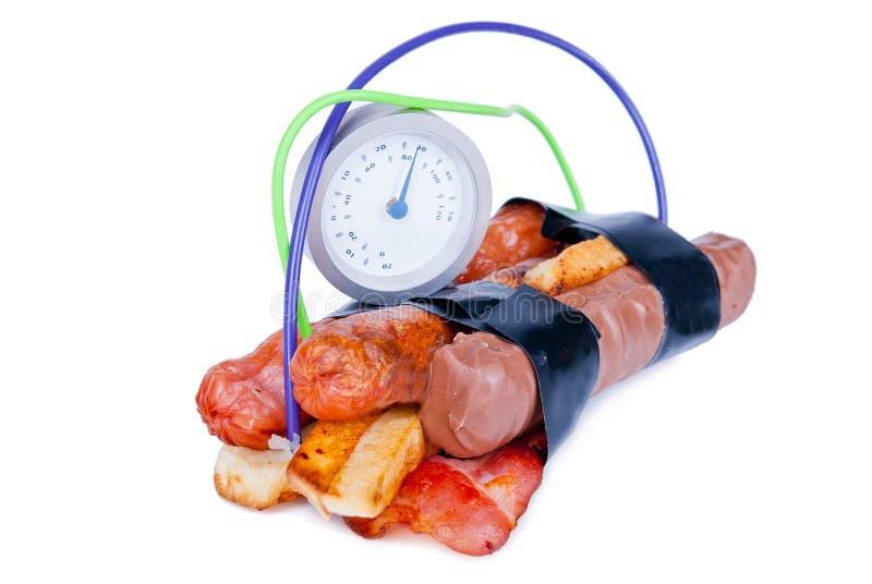 Bomba de la caloría imagenes de archivo