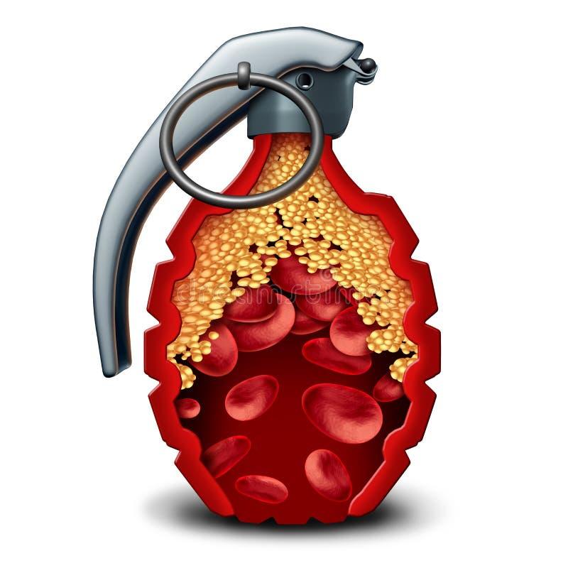 Bomba de la enfermedad cardíaca ilustración del vector