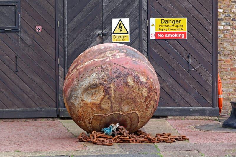 Bomba de la mina fotos de archivo libres de regalías