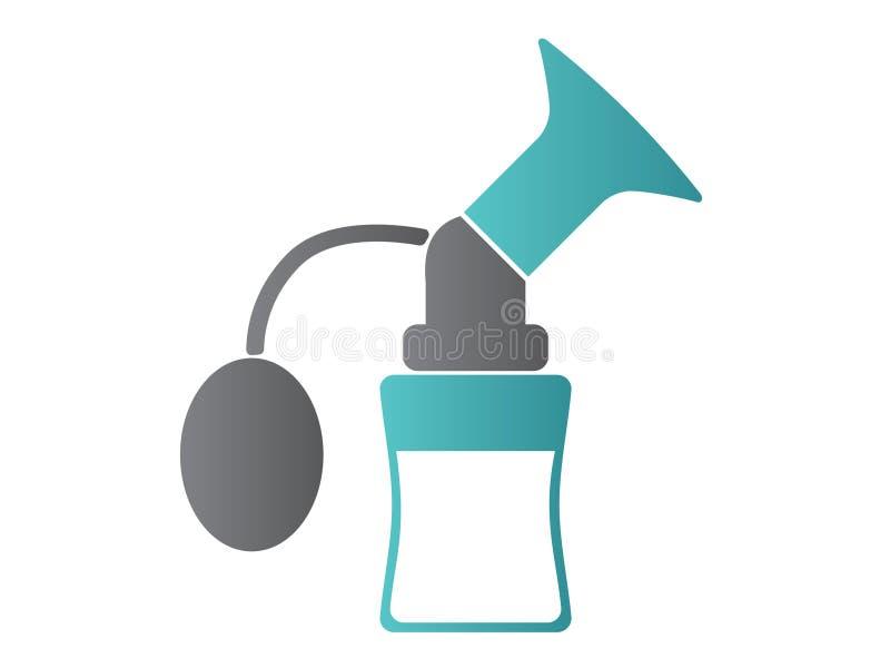 Bomba de lactancia Ilustración del vector icono ilustración del vector