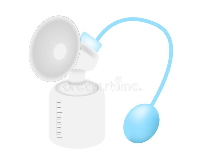 Bomba de lactancia manual ilustración del vector