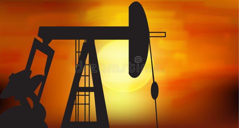 Bomba de petróleo ilustração do vetor
