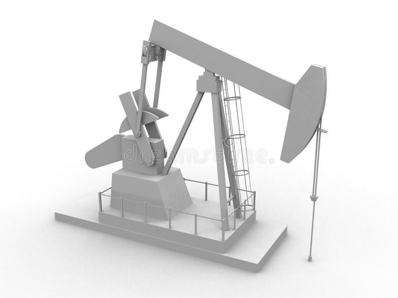 Bomba de petróleo ilustración del vector