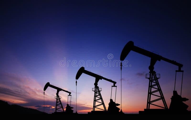 Bomba de petróleo imagens de stock