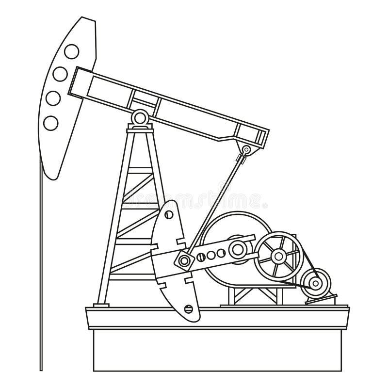 Bomba de petróleo stock de ilustración