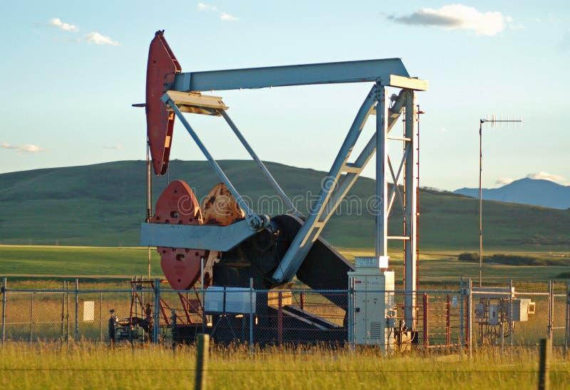 Bomba de petróleo en los praires foto de archivo