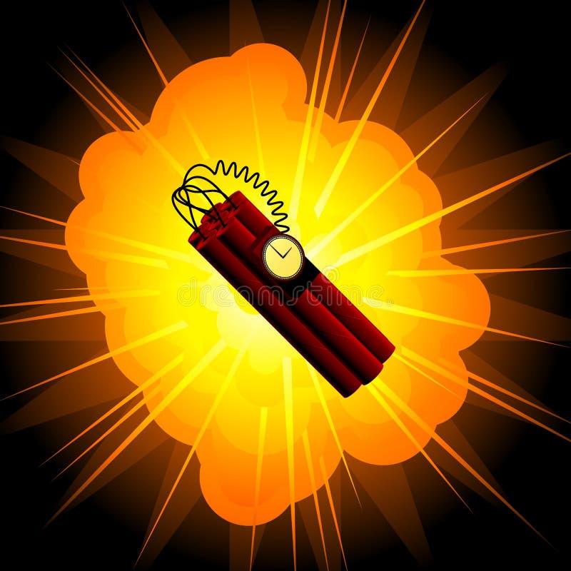 Bomba de tempo ilustração do vetor