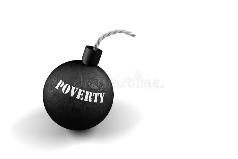 Bomba de tempo da pobreza ilustração royalty free
