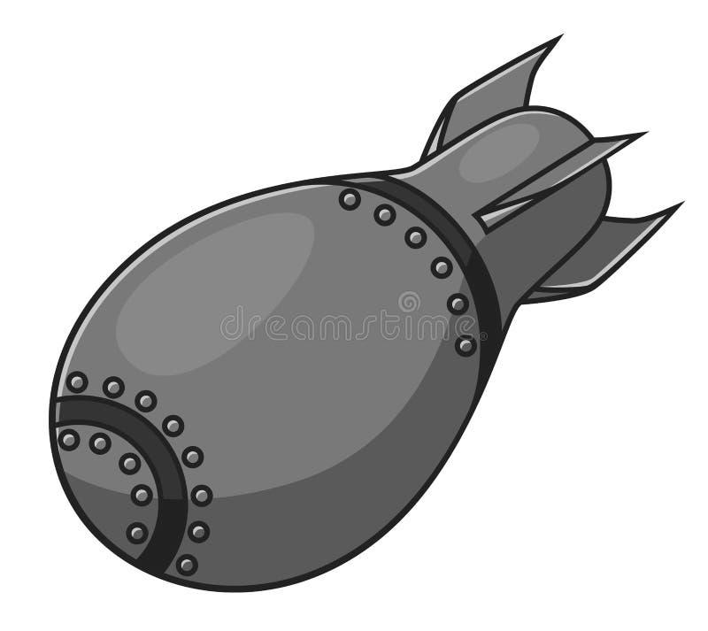 Bomba del aire de la historieta ilustración del vector