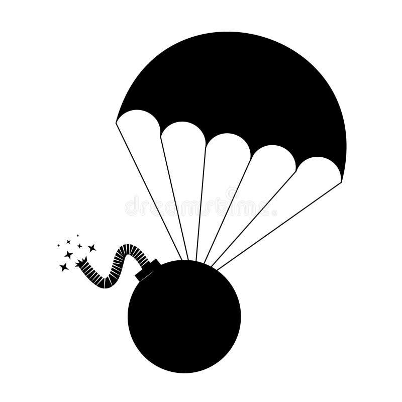 Bomba del peligro ilustración del vector