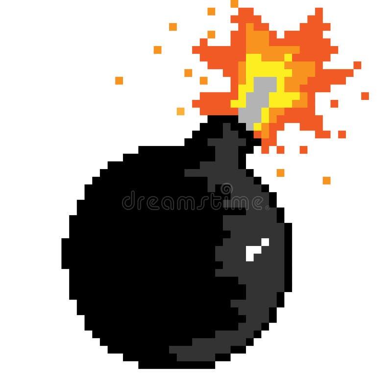 Bomba del pixel ilustración del vector