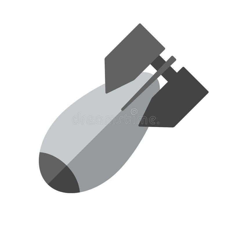 Bomba di aviazione di vettore nella progettazione piana Isolato su priorità bassa bianca Illustrazione di riserva royalty illustrazione gratis