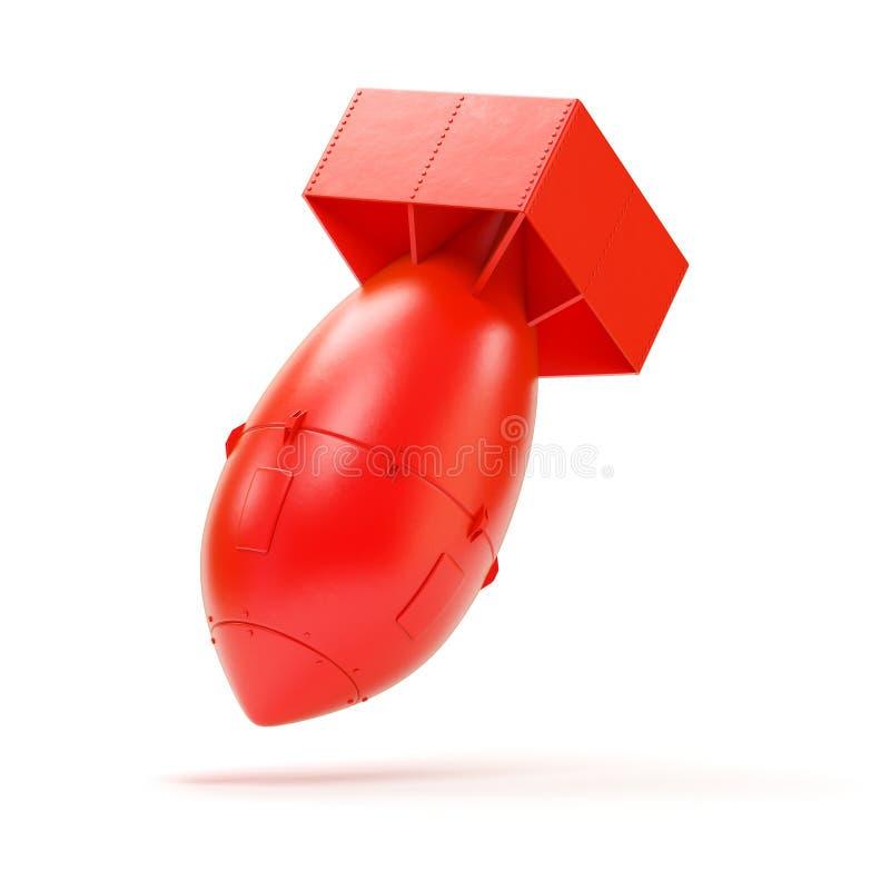 Bomba di rosso dell'aria fotografia stock